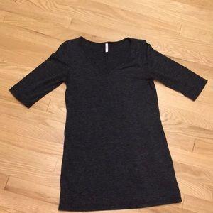 Charcoal gray tunic size maternity medium